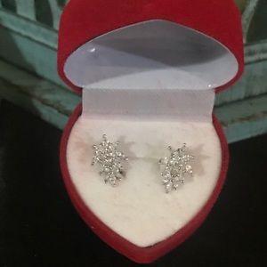 Sterling silver rhinestone earrings